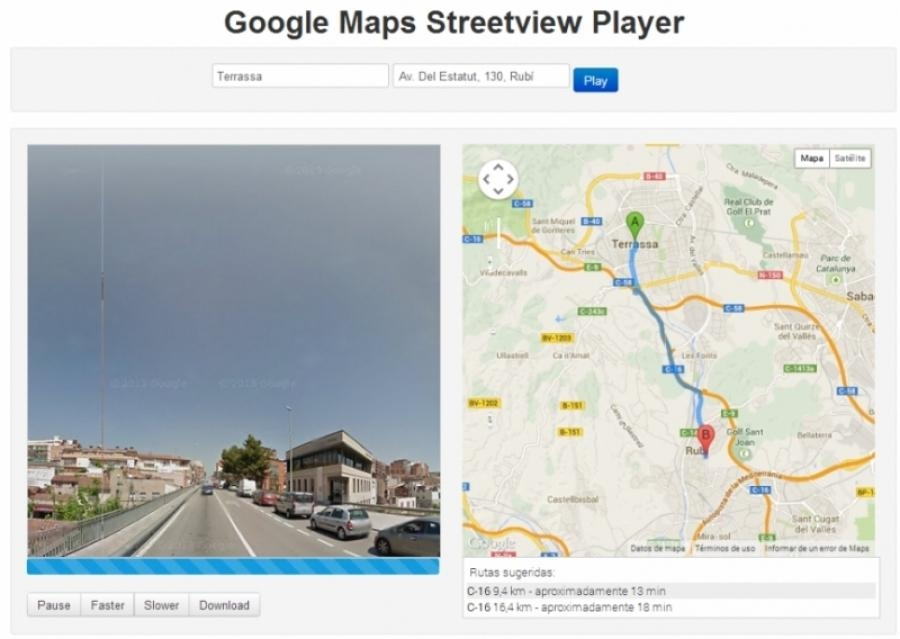 Streetview Player